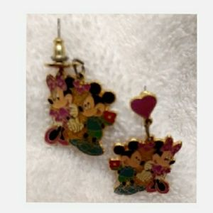 1968 Mickey & Minnie Courtship Earrings